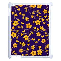 Floral Pattern Apple Ipad 2 Case (white) by Valentinaart