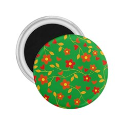 Floral Pattern 2 25  Magnets by Valentinaart