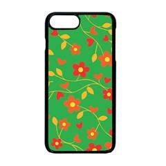 Floral Pattern Apple Iphone 7 Plus Seamless Case (black) by Valentinaart
