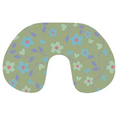 Floral Pattern Travel Neck Pillows by Valentinaart