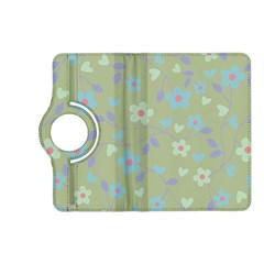 Floral Pattern Kindle Fire Hd (2013) Flip 360 Case by Valentinaart