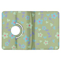 Floral Pattern Kindle Fire Hdx Flip 360 Case by Valentinaart