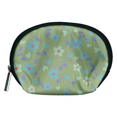 Floral Pattern Accessory Pouches (medium)  by Valentinaart