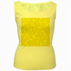 Floral Pattern Women s Yellow Tank Top by Valentinaart