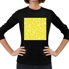 Floral Pattern Women s Long Sleeve Dark T Shirts by Valentinaart