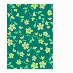 Floral Pattern Small Garden Flag (two Sides) by Valentinaart