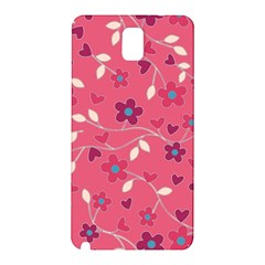 Floral Pattern Samsung Galaxy Note 3 N9005 Hardshell Back Case by Valentinaart