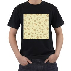 Floral Pattern Men s T Shirt (black) (two Sided) by Valentinaart