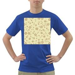 Floral Pattern Dark T Shirt by Valentinaart