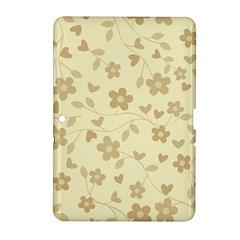Floral Pattern Samsung Galaxy Tab 2 (10 1 ) P5100 Hardshell Case  by Valentinaart
