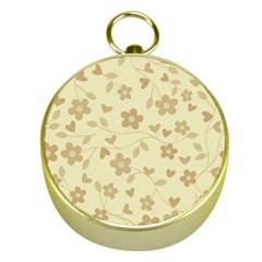 Floral Pattern Gold Compasses by Valentinaart