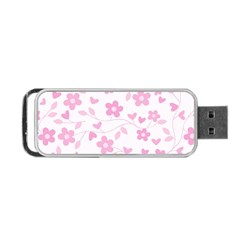 Floral Pattern Portable Usb Flash (one Side) by Valentinaart