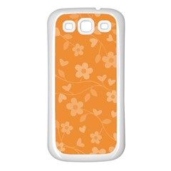 Floral Pattern Samsung Galaxy S3 Back Case (white) by Valentinaart