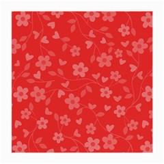 Floral Pattern Medium Glasses Cloth by Valentinaart