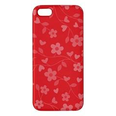Floral Pattern Iphone 5s/ Se Premium Hardshell Case by Valentinaart