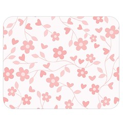 Floral Pattern Double Sided Flano Blanket (medium)  by Valentinaart