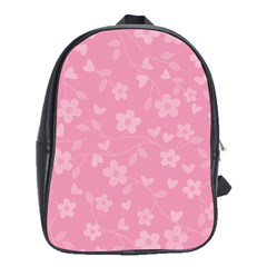 Floral Pattern School Bags (xl)  by Valentinaart