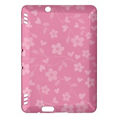Floral Pattern Kindle Fire Hdx Hardshell Case by Valentinaart