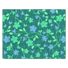 Floral Pattern Rectangular Jigsaw Puzzl by Valentinaart