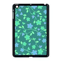 Floral Pattern Apple Ipad Mini Case (black) by Valentinaart