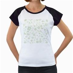 Floral Pattern Women s Cap Sleeve T by Valentinaart