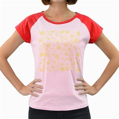 Floral Pattern Women s Cap Sleeve T Shirt by Valentinaart