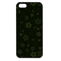 Floral Pattern Apple Iphone 5 Seamless Case (black) by Valentinaart