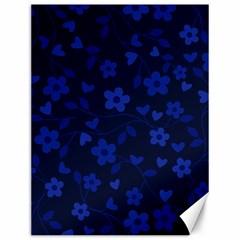 Floral Pattern Canvas 12  X 16   by Valentinaart