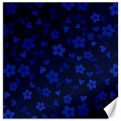 Floral Pattern Canvas 16  X 16   by Valentinaart