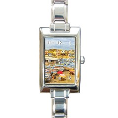 Engabao Beach At Guayas District Ecuador Rectangle Italian Charm Watch by dflcprints