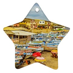 Engabao Beach At Guayas District Ecuador Ornament (star) by dflcprints