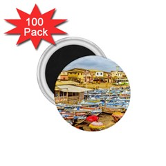 Engabao Beach At Guayas District Ecuador 1 75  Magnets (100 Pack)  by dflcprints