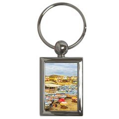Engabao Beach At Guayas District Ecuador Key Chains (rectangle)  by dflcprints