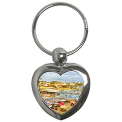 Engabao Beach At Guayas District Ecuador Key Chains (heart)  by dflcprints
