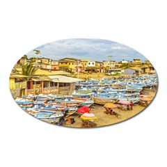 Engabao Beach At Guayas District Ecuador Oval Magnet by dflcprints