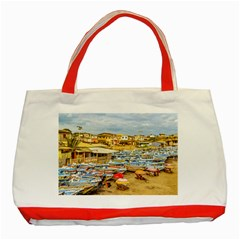 Engabao Beach At Guayas District Ecuador Classic Tote Bag (red) by dflcprints