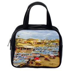 Engabao Beach At Guayas District Ecuador Classic Handbags (one Side) by dflcprints
