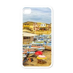 Engabao Beach At Guayas District Ecuador Apple Iphone 4 Case (white) by dflcprints