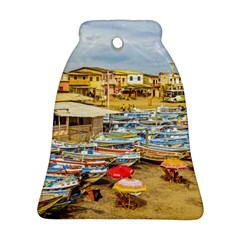 Engabao Beach At Guayas District Ecuador Bell Ornament (two Sides) by dflcprints