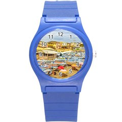 Engabao Beach At Guayas District Ecuador Round Plastic Sport Watch (s) by dflcprints