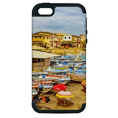 Engabao Beach At Guayas District Ecuador Apple Iphone 5 Hardshell Case (pc+silicone) by dflcprints