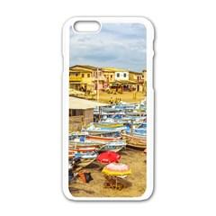 Engabao Beach At Guayas District Ecuador Apple Iphone 6/6s White Enamel Case by dflcprints
