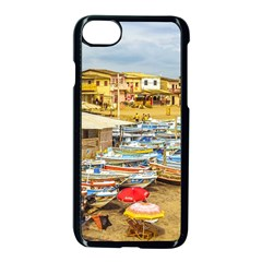 Engabao Beach At Guayas District Ecuador Apple Iphone 7 Seamless Case (black) by dflcprints
