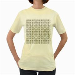 Pattern Women s Yellow T Shirt by Valentinaart