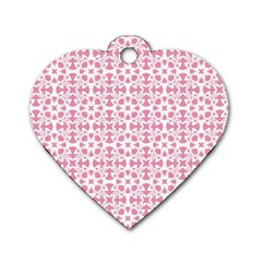 Pattern Dog Tag Heart (two Sides) by Valentinaart