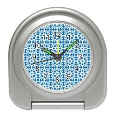 Pattern Travel Alarm Clocks by Valentinaart