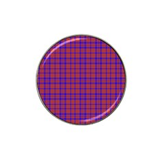 Pattern Plaid Geometric Red Blue Hat Clip Ball Marker (10 Pack) by Simbadda