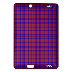 Pattern Plaid Geometric Red Blue Amazon Kindle Fire Hd (2013) Hardshell Case by Simbadda