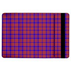 Pattern Plaid Geometric Red Blue Ipad Air 2 Flip by Simbadda