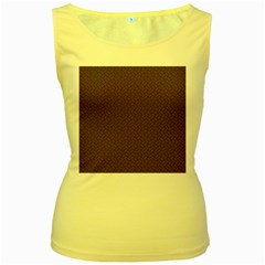 Pattern Women s Yellow Tank Top by Valentinaart